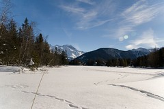 A gorgeous Christmas morning (woody.dude) Tags: mountain snow switzerland frozenlake