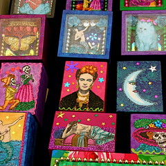 cajitas, bazar del sabado, mexico city (hadley coull) Tags: catchycolors painting colours bright market crafts arts fridakahlo colonia match boxes multicolored pintura calavera sanangel fsforos cajitas bazardelsabado plazasanjacinto