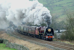 Royal Train at Helwith Bridge nr Settle (prof@worthvalley) Tags: bridge train all yorkshire transport royal railway steam locomotive types railroads 6233 helwith