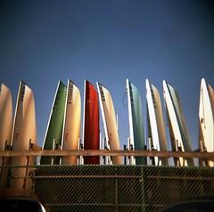 09b.jpg (embellezca) Tags: california sky 120 marina boats losangeles holga canoes filmcamera marinadelrey excapture