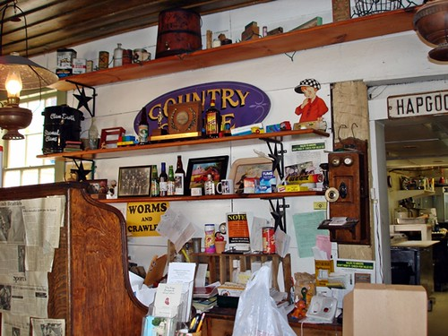 counter in general store