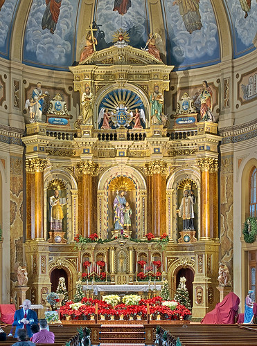 Saint Joseph Shrine, in Saint Louis, Missouri, USA - high altar
