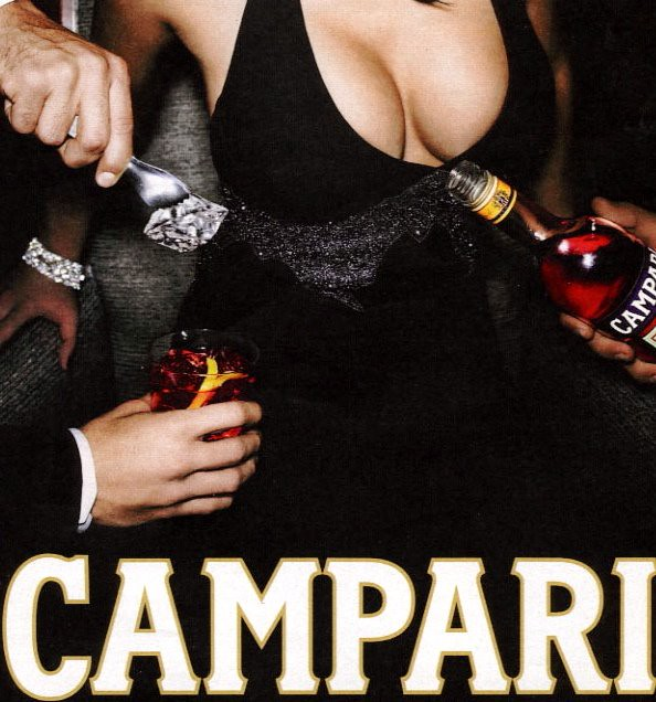 Salma Hayek's cleavage - Campari by SerenityF