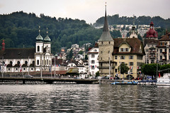 Lucerne Switzerland (bekahpaige) Tags: travel cruise mountain lake alps water architecture switzerland europe swiss luzern lucerne magical oldworld blueribbonwinner supershot continentalodyssey anawesomeshot aplusphoto platinumheartaward