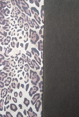 Cheetah and Brown Suede Fabrics