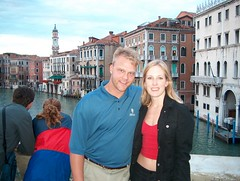 Us on a bridge in Venice