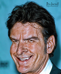 CHARLIE SHEEN (The PIX-JOCKEY (no comment, just views)) Tags: portrait usa cinema celebrity photoshop movie star tv joke contest fake manipulation humour hollywood vip photomontage chop caricature actor ritratto fotomontaggi fotoritocco charliesheen robertorizzato pixjockey