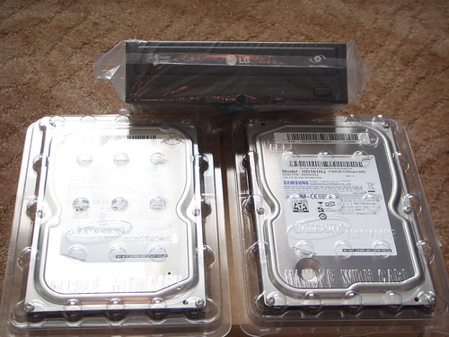 Hard drives and DVD rewriter