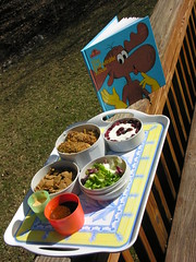 Mr. Bento - February 25, 2008 (Great Stone Face) Tags: chicken salad rice cranberry chex yogurt mole thousandislanddressing mrbento