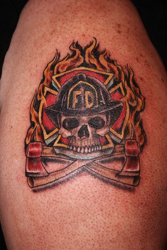 Art Firefighter EMS Tattoos Gallery 3 Art Firefighter EMS Tattoos On The