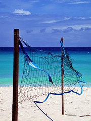 B'dos beach volley... (jendayee) Tags: blue sea sky net beach clouds sand holidays warm sunny barbados onblue catchycolorblue platinumphoto anawesomeshot imagesofharmony mailciler spiritofphotography