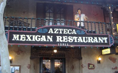 The Front of Azteca in Garden Grove