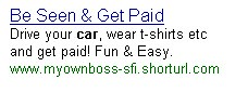 PPC advertising with URL shortening
