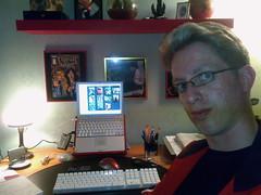 20080514 (Heinrock) Tags: selfportrait apple computer powerbook glasses buttercup desk laptop powerpuff 12inch sip rundmc dnd365