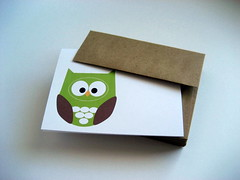 Hoot Greeting Card (Crafted By Lindy) Tags: green bird invitation card owl envelope greetingcard