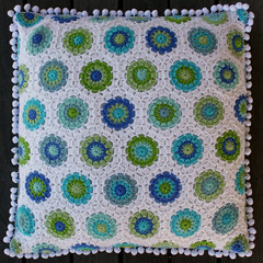 hexagon pillow (rettgrayson) Tags: wool crochet pillow hexagon cushion rettgrayson lorettagrayson