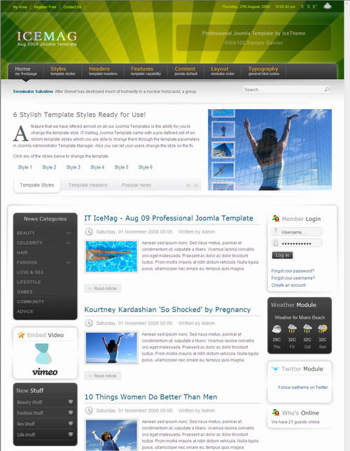 IT IceMag – August 09 Joomla Template