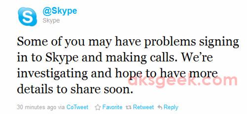 Skype goes down