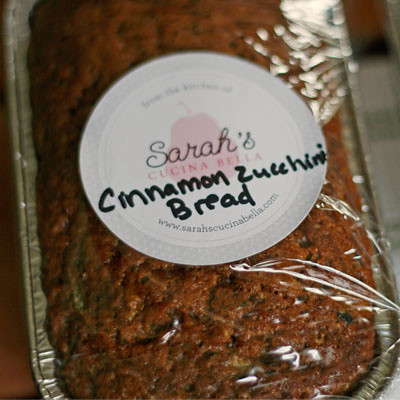 Perfect Teacher Gift: Cinnamon Zucchini Bread Mini-Loaves - Sarah's ...