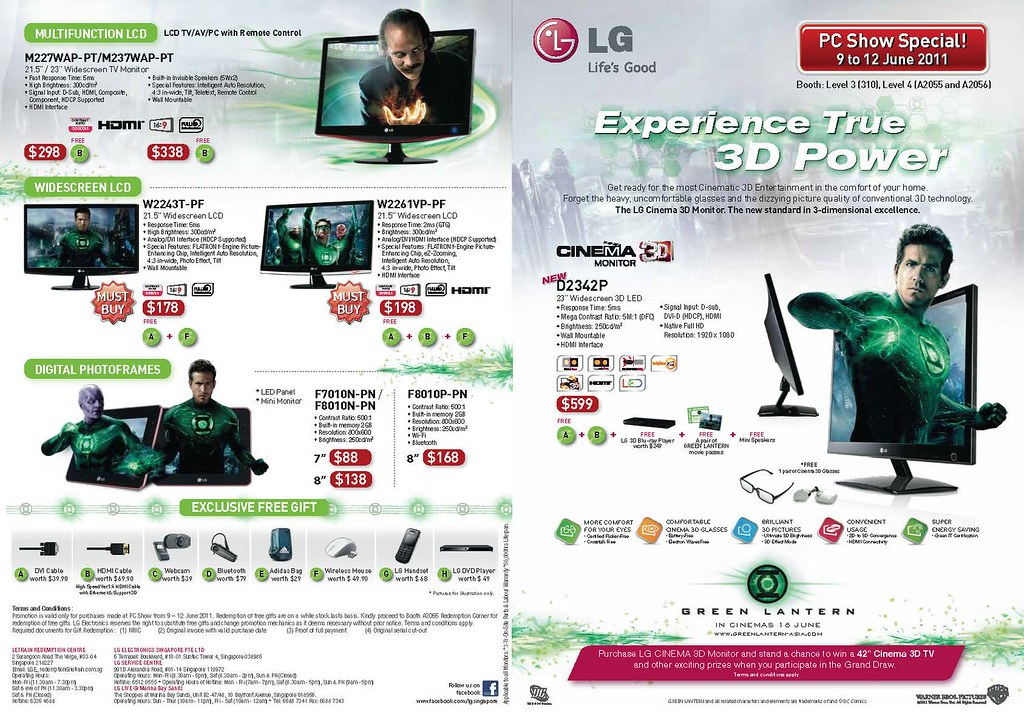 LG monitors on promotion at the PC Show 2011