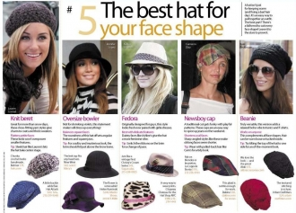 hats for different face shapes, click to enlarge