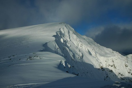 The final approach to Aonach Beag