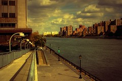 East River_9573 (Punk Dolphin) Tags: newyorkcity trees sky building water clouds river lights highway manhattan overpass eastriver fdr cornelluniversity