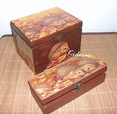 Conjunto de caixas - Ourios (kideias - Artesanato) Tags: handmade crafts artesanato artesania handwerk decoupage artisanat artigianato tecnicadoguardanapo artesanat handvaardigheid kideias