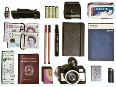 i'm a tourist (Mas-Luka) Tags: film moleskine tickets lomo flash fisheye pile marker lighter passport padlock batteries tissues playingcards carte stabilo pounds accendino passaporto pennarello fazzoletti lucchetto torcia rullino sterline londonguide piacentine guidalondra biglietticoncerto