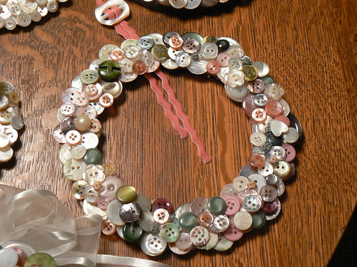 MY button wreath