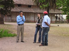 two workers are interviewed by Dorothea