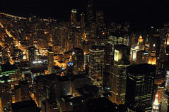 Glittering Buildings (caribb) Tags: travel urban usa chicago tower america us illinois downtown view unitedstates sears visit tourist vista touring etatsunis vistor