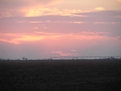 Uvalde County Sunset & Irrigation (Texas to Mexico) Tags: trip sunset sky car rural texas farmland goinghome fromthecar knippa uvaldecounty
