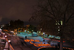 Luminarias de UNM (benrobertsabq) Tags: new newmexico college night campus mexico flickr meetup abq nm luminaria albuquerqueunmuniversity