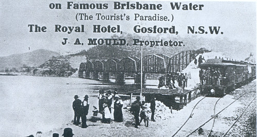Hawkesbury River railway bridge opening May 1st 1889