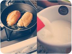 caf (marina;) Tags: bread po caneca leite frigideira manteiga