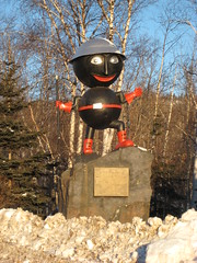 Rocky Taconite (anglerove) Tags: hardhat minnesota statue giant interestingness big large explore huge roadside roadsideattractions taconite silverbay bigthings ironore pickaxe rockytaconite roadsidedistractions tc070