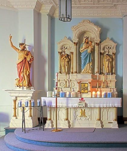 Saint Joseph Roman Catholic Church, in Bonne Terre, Missouri, USA - Mary's altar