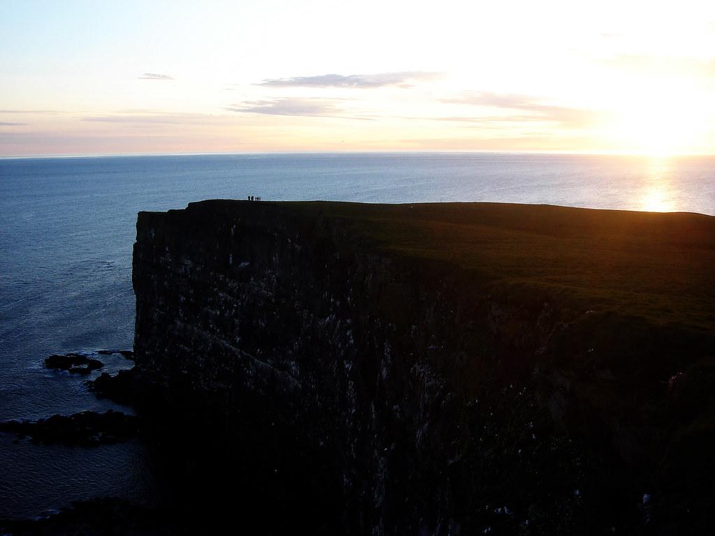 Látrabjarg cliffs at sunset