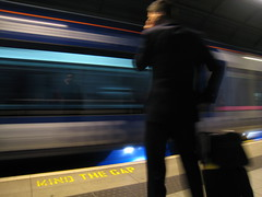 Mind the gap (xNstAbLe) Tags: uk london train heathrow tube mindthegap heathrowexpress clevercreativecaptures