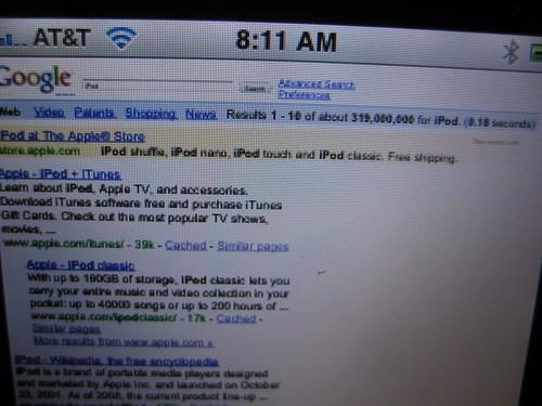 Google AdWords on iPhone