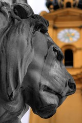 IMG_4908_HDR (mcmumpitz) Tags: bw cutout munich mnchen dof lion hdr lwe theatinerkirche colorkey feldherrenhalle