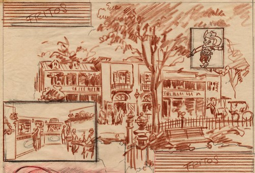 Disneyland Casa de Fritos Illustration, 1955