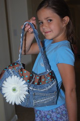 back of Grace's purse