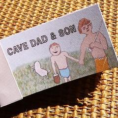 cave dad & son