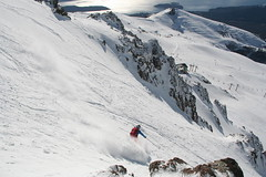 skiing the slackcountry of Cerro Catedral, Bariloche, Argentina