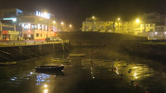 Portrush Harbour (Katie_Russell) Tags: portrush coantrim countyantrim ni ireland nireland northernireland norniron fog foggy mist misty harbour boat boats ship ships ramore light lights dark night nighttime reflect reflects reflection reflections reflected