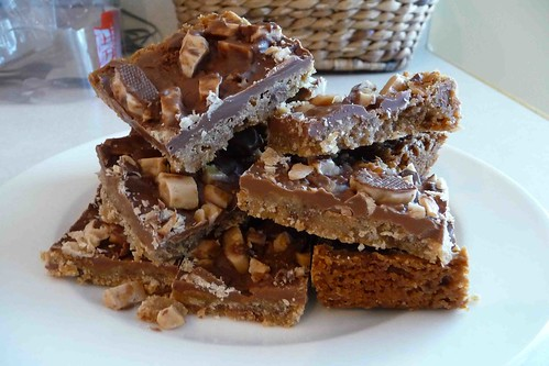 Chocolate-Toffee Bars - Cookin Canuck