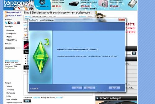 The Sims 3 pasirodė piratiniuose torrent puslapiuose!