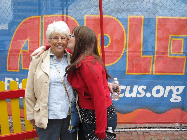 gram's big trip to the city. we took her to the circus.